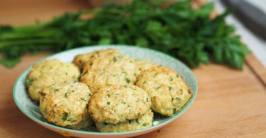 Galette chou fleu quinoa persil