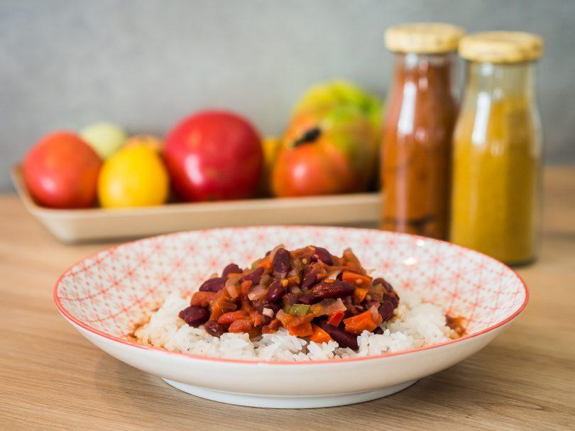 Recette Chili sin carne végétarien
