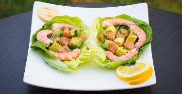 salade crevettes avocat agrumes